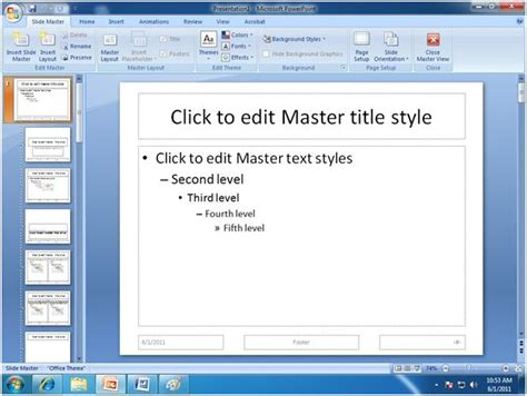 how to create a master template in powerpoint microsoft powerpoint slide master in ms powerpoint