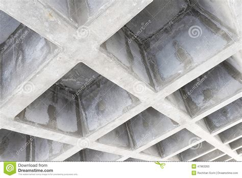 Ceiling Cement by Concrete Structure Ceiling Stock Image Image Of Lines