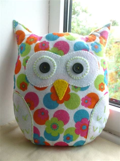 Handmade Felt Craft Patterns - handmade felt owl pillow lavender scented flora sons