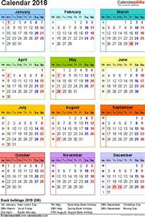 5 Year Calendar 2014 To 2018 2018 Calendar Uk 2018 Calendar Printable
