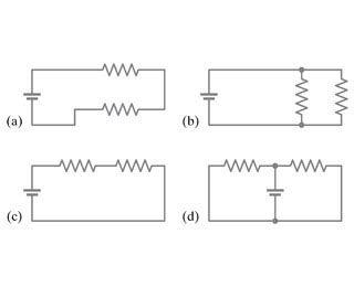two resistors in series mastering physics in which circuits shown in figure 1 are resistor chegg
