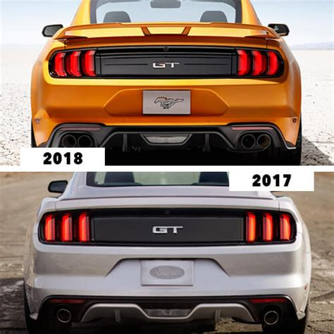 2017 mustang vs 2018 mustang 2017 ford mustang vs 2018 mustang cj pony parts