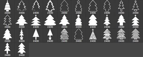 32 christmas tree brushes photoshop brushes