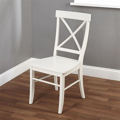 white x back dining chair easton antique white cross back chair overstock