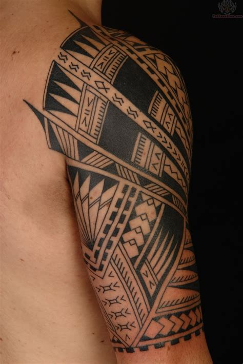 shoulder design tattoos polynesian design on shoulder