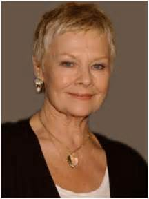 Short haircuts women over 50 also judi dench hairstyle on short
