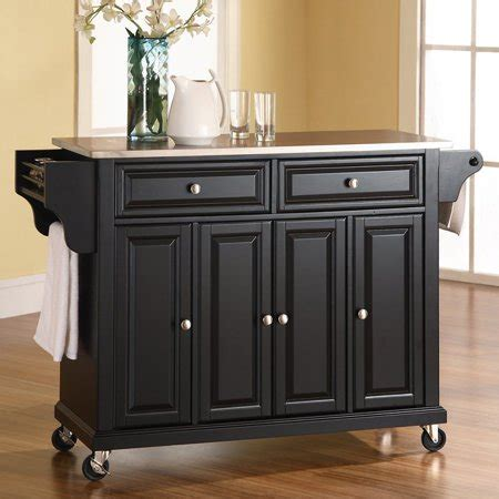 stainless steel kitchen island cart crosley furniture stainless steel top kitchen cart