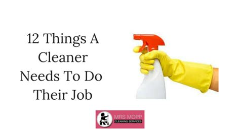 household needs 12 things a cleaner needs to do their job well mrs mopp
