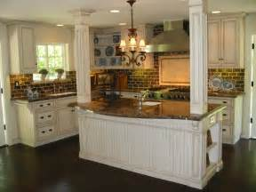 Cream Cabinet Kitchen by Custom Kitchen Renovation Antique Cream Glazed Cabinets