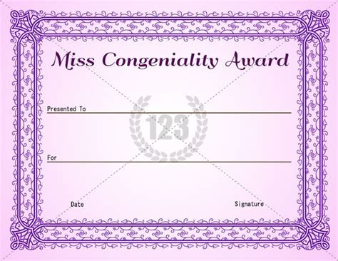 pageant certificate template 23 best images about award certificates on