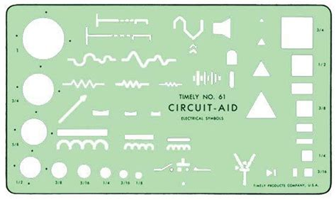 Electrical Template timely t 61 circuit aid electrical symbols drafting template