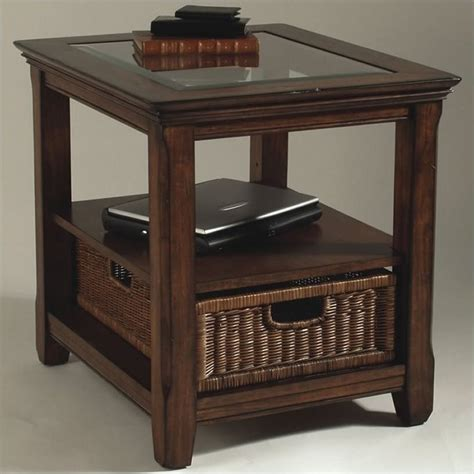 Coffee And End Tables With Storage Magnussen 2 Wood Storage Coffee And End Table Set In Worn Tobacco T1297 50 03 Pkg