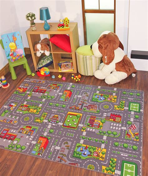 Kid Play Rug Large Play Rug City Road Mat Town Car Rugs Ebay
