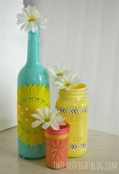 17 best ideas about painted glass bottles on