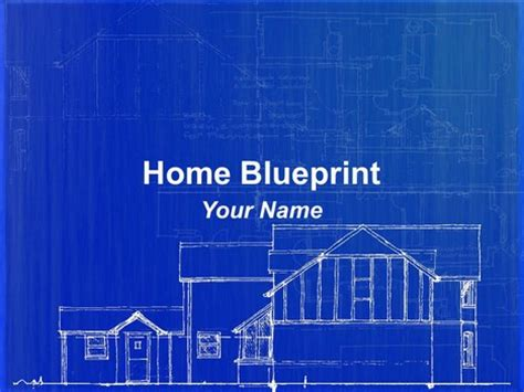 blueprint template home blueprint powerpoint template