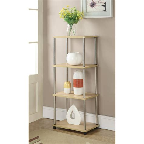 4 shelf open bookcase a frame open 4 shelf bookcase espresso walmart com