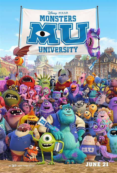film cartoon monster university monsters university character posters bios voice cast