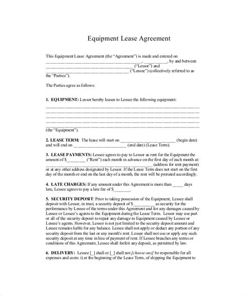 standard commercial lease agreement template standard lease agreement 9 free pdf word documents