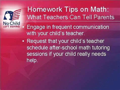 Parent Tips On Homework by Homework Tips On Math What Teachers Can Tell Parents