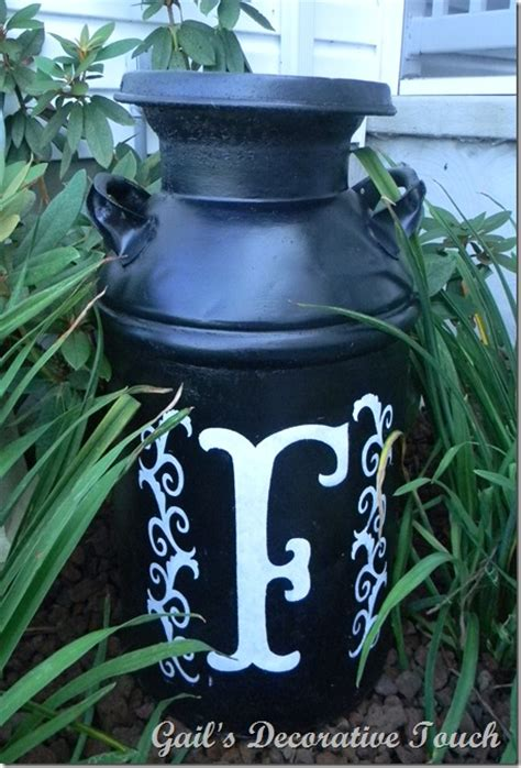 Decorating Ideas Milk Cans Gail S Decorative Touch An Milk Can