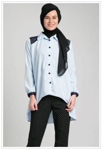 desain kemeja muslimah contoh foto baju muslim modern terbaru 2016 koleksi