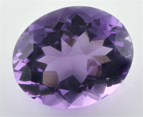 12x10mm oval facet light purple amethyst