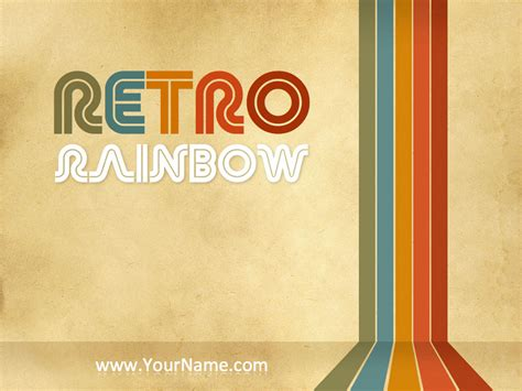 powerpoint templates free retro retro rainbow powerpoint template by mauriziocattaneo