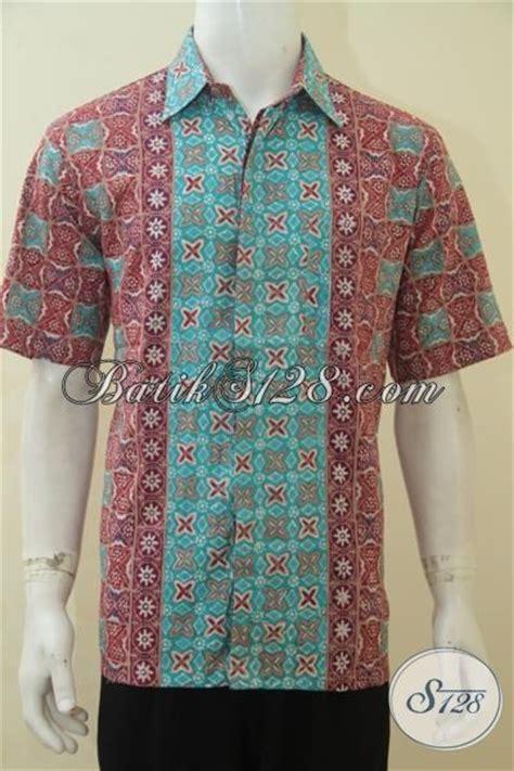 desain baju batik lelaki produk kemeja batik lelaki model lengan pendek hem batik