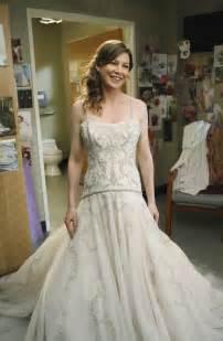 wedding dresses grey meredith s wedding dress grey s anatomy photo 5307335