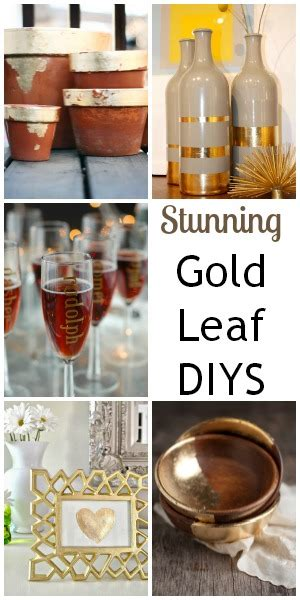 stunning home decor diys with gold leaf foil blissfully