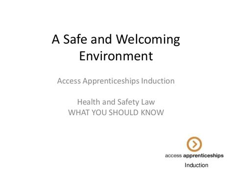 induction cooking health safety apprentice induction health and safety and the