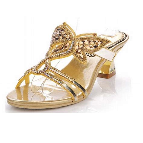 s sandals with bling 2016 sale brand gold butterfly rhinestone