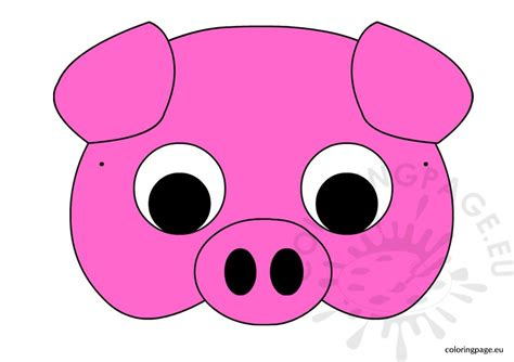 pig mask template printable pig mask pictures to pin on pinsdaddy