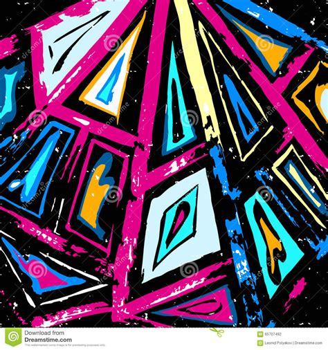 abstract graffiti pattern graffiti abstract geometric pattern on a black background