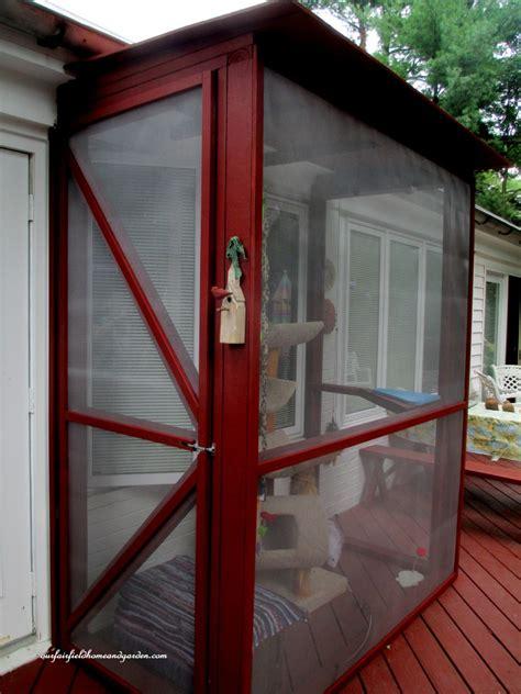 hometalk build  catio  tiny screen house  kitty cats