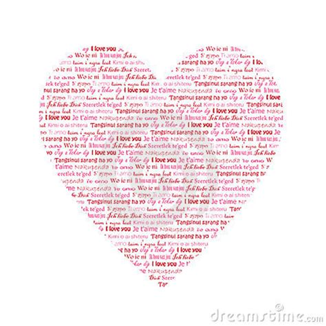 heart  words  love    languages stock  image