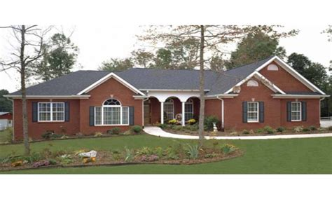 large ranch style homes brick ranch style house plans painted brick ranch style
