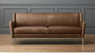 cb2 leather sofa alfred distressed brown leather sofa cb2