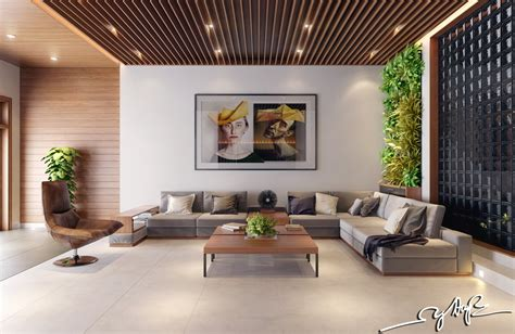 Indoor Design | interior design close to nature rich wood themes and indoor vertical gardens