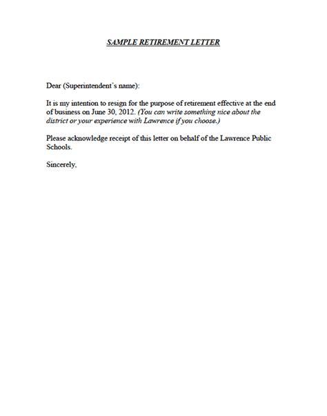 Sles Of Retirement Letters Best Letter Sle Retirement Letter Templates Free