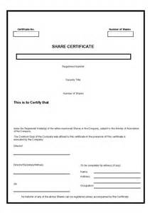 Free Stock Certificate Template by 40 Free Stock Certificate Templates Word Pdf