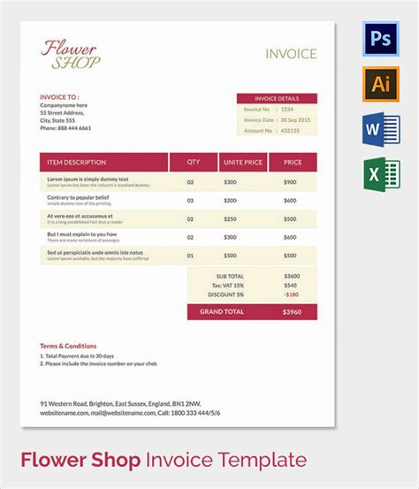 shop invoice template 38 invoice templates free sle exle format