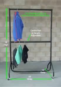 heavy duty double hanging rail 0 9 metres long x 2 metres