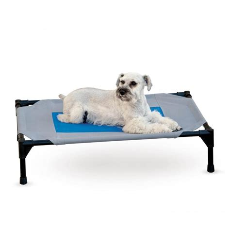 Pet Cooling Bed by K H Coolin Pet Cot Cooling Raised Bed Cot