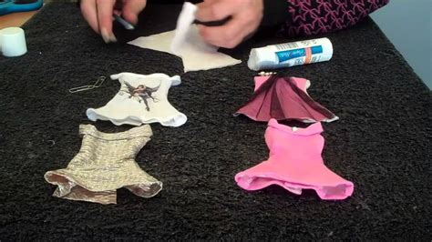 How To Make Papercraft Dolls - how to make doll clothes dress doll crafts doovi