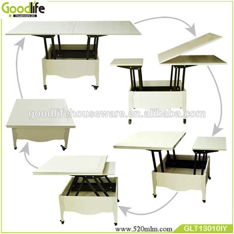 multifunctional wooden folding dining table coffee table