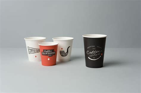Coffee Cup Design | illustrated takeout cups by hardhat design for coffee supreme