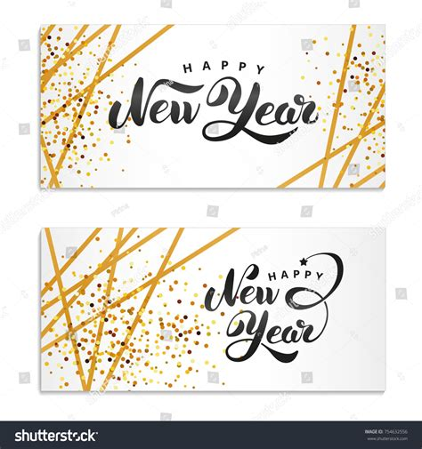 new year card printing malaysia happy new year gold glitter gold stock vector 754632556