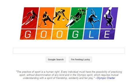 doodle olympics sochi doodle quotes the olympic charter in support