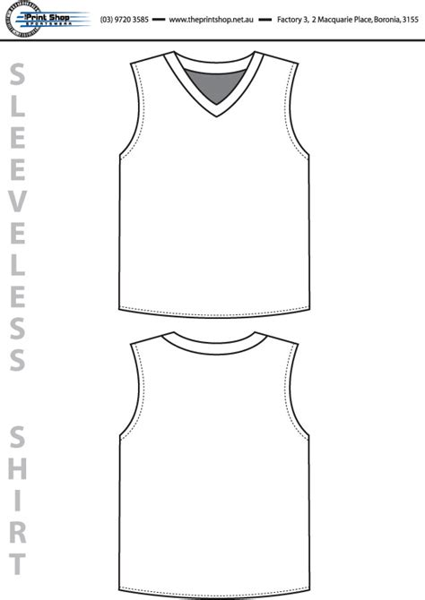 sleeveless shirt template the print shop sportswear